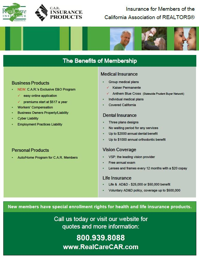 Health Insurance - Tuolumne County Association of Realtors